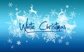 White Christmas snow background — Stock Photo