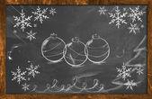 Tiza decorativo dibujar ornamento de navidad — Foto de Stock