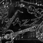 Jazz instruments music background — Stock Photo #33548327