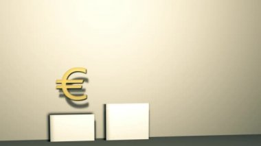 Money Graphic 3D Animation (euro) — Stock Video