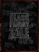 Black friday sale text on blackboard — Stock Photo