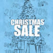 Christmas sale blue background — Stock Photo