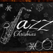 Stock Photo: Jazz Christmas music background