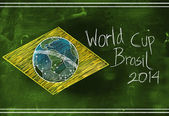 World cup Brasil 2014 sketch — Stock Photo
