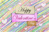Happy Valentine's Day Pencil Color — Stock Photo