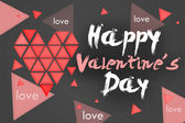 Happy Valentine's Day Simple Card - Dark — ストック写真