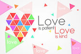 Love is Patient Love is Kind - White background — Stock Photo