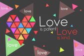 Love is Patient Love is Kind - Dark background — Stock Photo