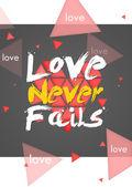 Happy Valentine's Day Simple Card - Dark — Stock Photo