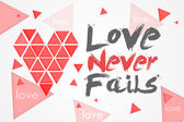 Love Never Fails - White Background — Stockfoto