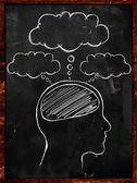 Pizarra de mentes de la gente — Foto de Stock