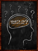 What's on people's mind? — Stock Photo