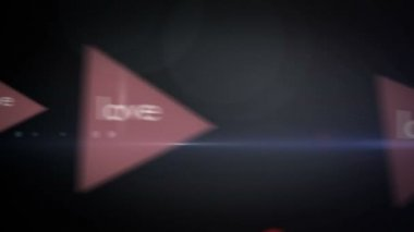 幸せなバレンタインデーのアニメーションをループ — ストックビデオ