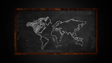Light up the world on Blackboard — Stock Video