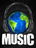 Music Earth Universal Sketch Headset — Stock Photo