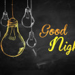 Good Night Bulbs Background — Stock Photo #45721903