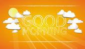 Good Morning — Stock Vector