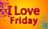 I love Friday  Particles Heart Shape — Stock Photo