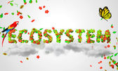 Ecosystem leaves — Stock Photo