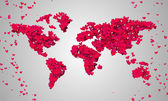World Map Red Love — Photo