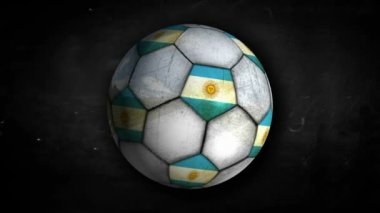 Argentina Ball Rotation — Vídeo Stock