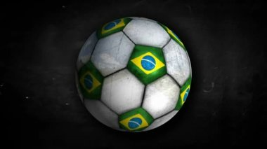 Brazil Ball Rotation — Vídeo Stock