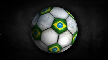 Brazil Ball Rotation — Vídeo de stock