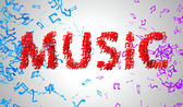 Red Music Musical Note — Stock Photo
