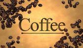 Ziarna kawy z kawy znak — Zdjęcie stockowe