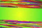 Rainbow straight Line Glow Green Background — Stock Photo