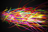 Heavy Rainbow Strands Line — Stock Photo