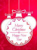 Feliz navidad y año nuevo — Foto de Stock