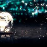 Globe Glass Crystal Silver — Stock Photo #50911977