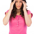 Young brunette suffering from headache — Stock Photo #31560889