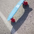 Colorful skateboard on road — Stock Photo #31561849
