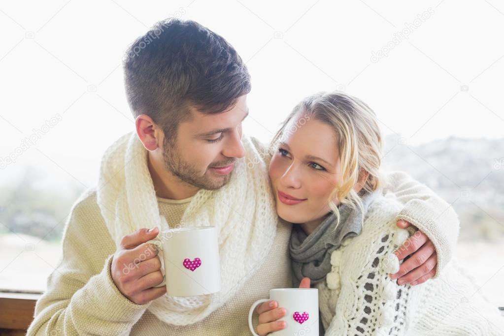 Картинки влюбленная пара зимой снимок