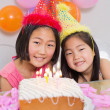 Cute little girls at birthday party — Stock Photo #37826713
