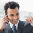 Close-up of elegant businessman using cellphone — Stock Photo #37827813