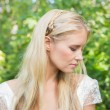Blonde bride looking peaceful — Stock Photo #37834077