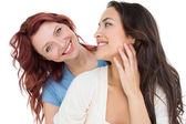 Close-up portrait of beautiful young female friends — Stock Photo
