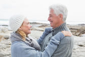 Side view of a romantic senior couple — Stock Photo