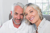 Close-up of a happy mature couple at home — Stockfoto