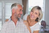 Close-up portrait of a happy mature couple — Stock Photo