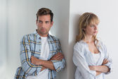 Couple not talking after an argument — Stock Photo