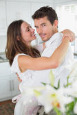 Portrait of a loving young couple embracing — Foto Stock