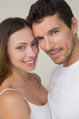 Close-up portrait of a happy couple — Stock Photo