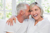 Loving mature couple with arm around — Stock Photo