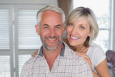 Close-up of a happy mature couple at home — Stock Photo