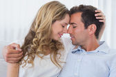 Close-up of a loving couple with eyes closed — Stock Photo