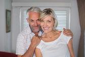 Portrait of a happy mature couple smiling — Stock Photo